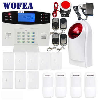 wofea home security GSM alarm system with 99 wireless zone and 7 wired zone flash siren set LCD display - DISCOUNT ITEM  24% OFF All Category