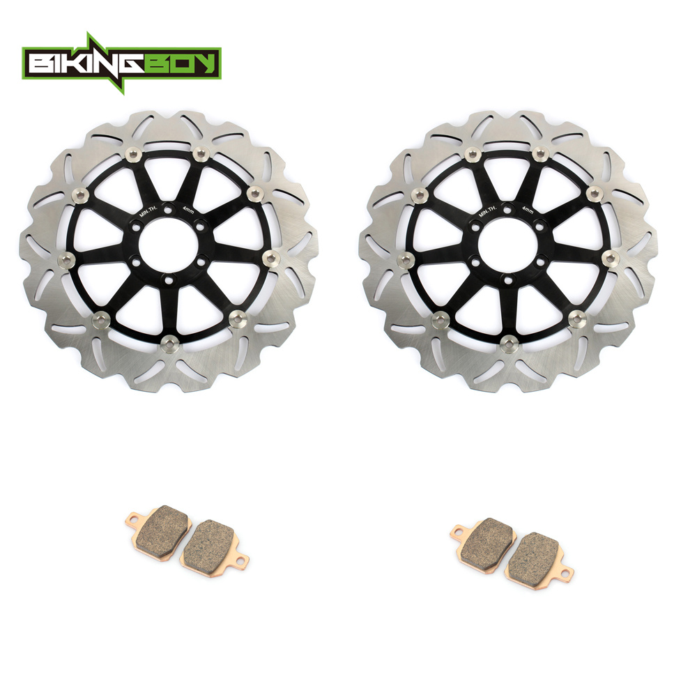 BIKINGBOY Motorcycle 1 Set Front Rear Brake Disk Disc Rotor Pad for KTM 1190 RC8 RC8R R 2008 2009 2010 2011 2012 2013 2014 320MM hot sale abs chromed front behind fog lamp cover 2pcs set car accessories for volkswagen vw tiguan 2010 2011 2012 2013