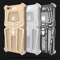 Aluminum For IPhone 5 6 3D Spiderman Case Full Cover Luxury Spider Metal Back Cover Case
