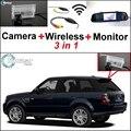 3en1 Cámara + Receptor Inalámbrico + Monitor Del Espejo Especial Fácil DIY Sistema de Aparcamiento Para Land Rover Range Rover Sport 2005 ~ 2012