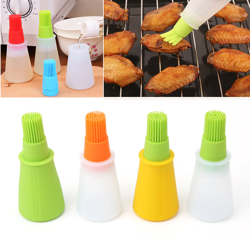 Heat Resistant Silicone Oil Bottle Brush Cooking Baking BBQ Pastry Basting