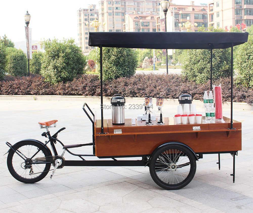 ペダル簡単高速移動食品自転車/コーヒー自動販売カート/コーヒーバイク