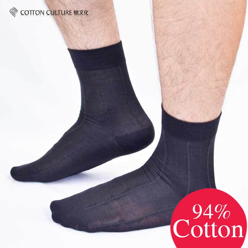 COTTONCULTURE New Hot Cotton Classic Business Brand 94% Cotton Men Casual Socks Comfortable Top Good Quality Dress SCM13AW01