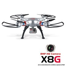 Hot Syma Headless Modo X8G 2.4G 4CH RC Quadcopter Helicóptero Drones Con Cámara de 8MP HD Modelo 2