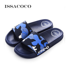 ISSACOCO 2018 Shoes Men Flip Flops Slippers Sandals Men Summer Shoes Beach Shoes Soft Beach Slippers Pantuflas Terlik Chinelo