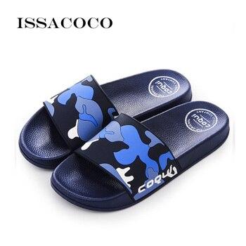 ISSACOCO 2020 Shoes Men Flip Flops Slippers Sandals Men Summer Shoes Beach Shoes Soft Beach Slippers Pantuflas Zapatilla Chinelo padegao men s shoes slippers hbc