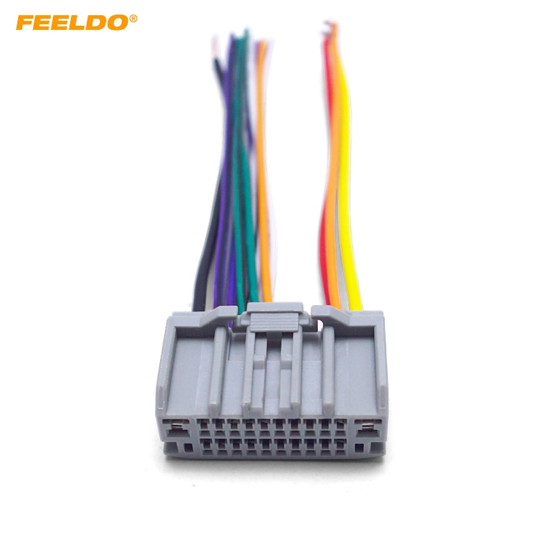 US $2.07 31% OFF|FEELDO 1PC Car Audio Stereo Wiring Harness Adapter on
