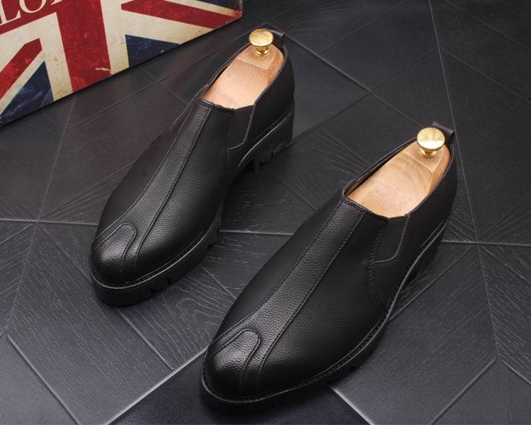 Zapatos Homens Novo Errfc Designer Homem Escritório Inverno Rodada Lazer Sapatos Couro Chegada Dos Photo As Botas De Carrer Toe as Photo Black Negócios Chelsea Pu rRqrxwC