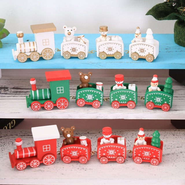 Christmas Gifts For Children Handmade Wooden train Christmas Decorations  Christmas Tree Decoracion navidad Merry Christmas 6 - Christmas Gifts For Children Handmade Wooden Train Christmas