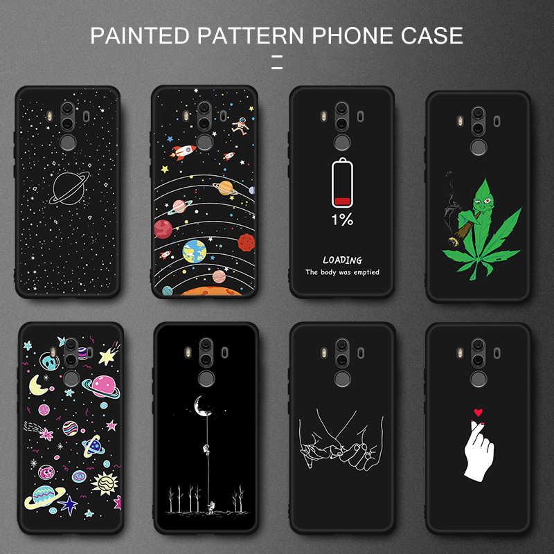 塗装 TPU 電話カバー Huawei 社の名誉 8X 最大ノヴァ 3 3i P10 P20 Lite メイト 10 メイト 20 プロ 1080p スマートプラス Y9 2019 保護ケース