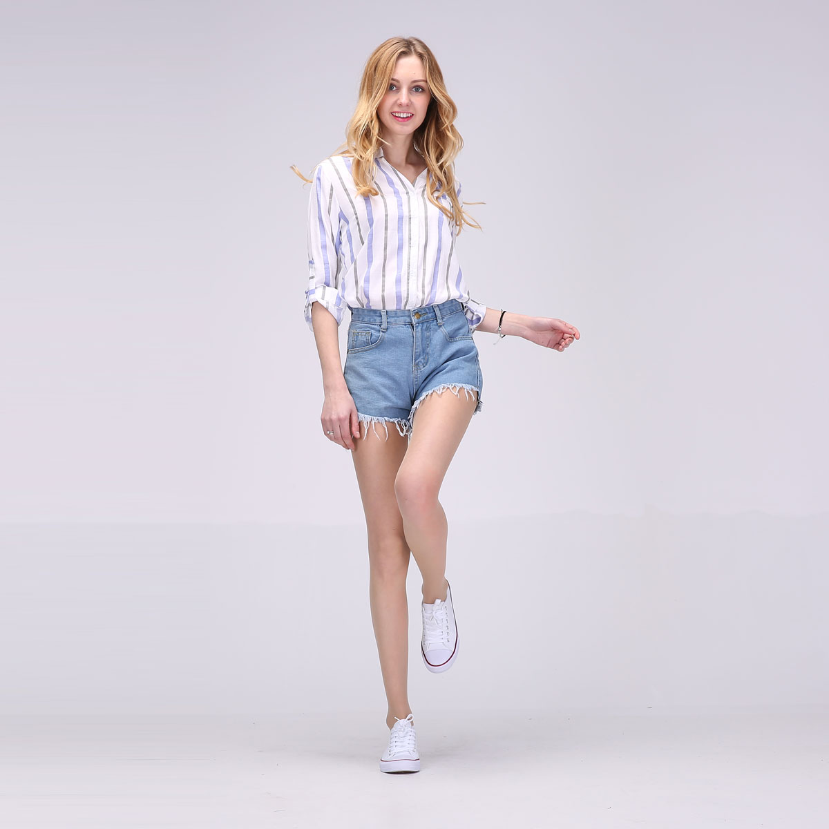 2017 Hot New Women Full Sleeve Blouses Striped Shirts Women Summer Tops Flare Sleeve Blouse Chemise Femme P Size 13