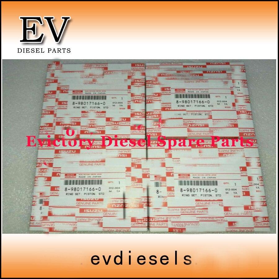 Для isuzuдвигатель 4HK1 4HK1T комплект поршневых колец 8-98017166-0 hiatch экскаватор EFI