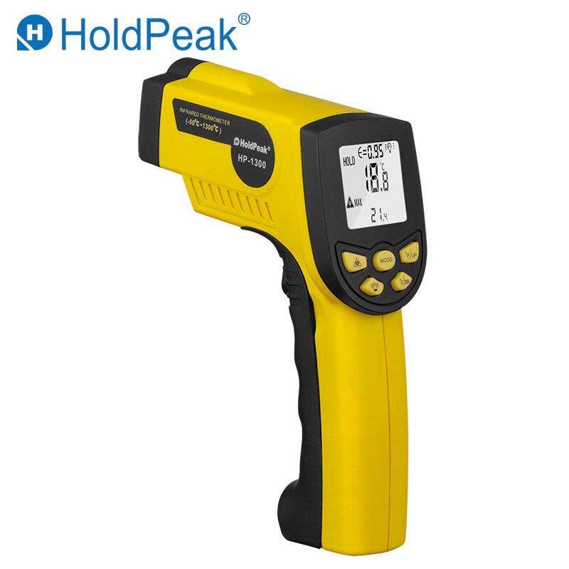 Ao ar livre Termômetro Digital Infravermelho HoldPeak HP-1300 Não-Contato Do Laser Display LCD Termômetro de Temperatura