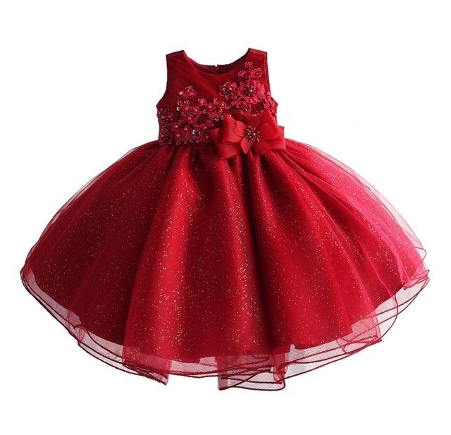 164ff78dc Santa Dress for princess birthday party lace dress Girls Christmas boutique  Costume bling sleeveless flower dresses[Yelaumoky]
