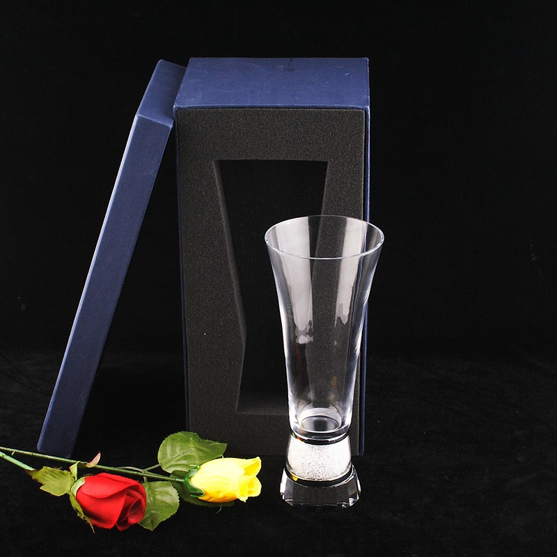 Twinkling Crystal Base Flower Vase Italian Fashion Decoration For