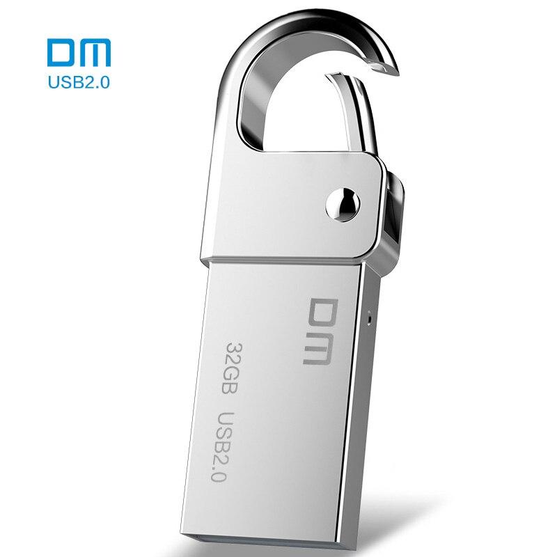 DM PD027 8GB 16GB 32GB USB Flash Drive Metal Pen Drive Key Ring Waterproof USB Stick Pendrive Flash Drive Usb Disk