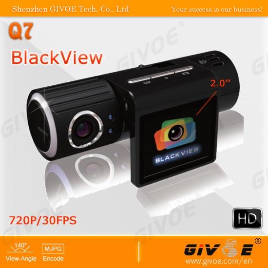 Hot Selling Car DVR HD Q7 Blackview with 5MP CMOS Sensor + 1280x720 + 140 Degrees Angle + Rotation Lens