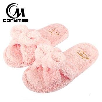6476909d CONYMEE casa Zapatillas Zapatos de invierno mujer cálido algodón interior  Zapatillas Zapatos de piso mujeres deslizamiento-en zapatillas suaves para  ...