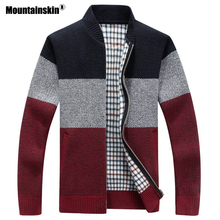 Mountainskin 2018 новые зимние Для мужчин куртки толстые пальто-кардиган Для мужчин s брендовая одежда осень Градиент Трикотажные пальто на молнии SA580