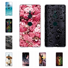 For Sony Xperia XZ3 Case Slim Soft TPU Silicone XZ 3 Cover Exotic Scenery Patterned Coque Funda