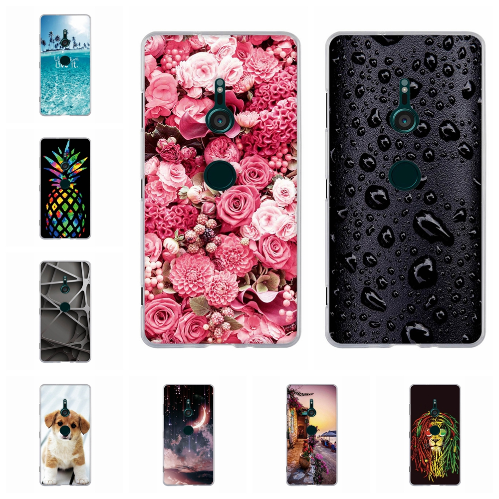 For <font><b>Sony</b></font> <font><b>Xperia</b></font> <font><b>XZ3</b></font> <font><b>Case</b></font> Slim <font><b>Soft</b></font> <font><b>TPU</b></font> Silicone For <font><b>Sony</b></font> <font><b>Xperia</b></font> <font><b>XZ3</b></font> XZ 3 Cover Exotic Scenery Patterned For <font><b>Sony</b></font> <font><b>XZ3</b></font> Coque Funda image
