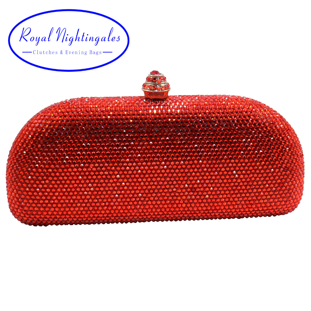 2019 Special Crystal Diamond Hard Cased Evening Purse and Box Clutches Crystal Evening Bag Black Red