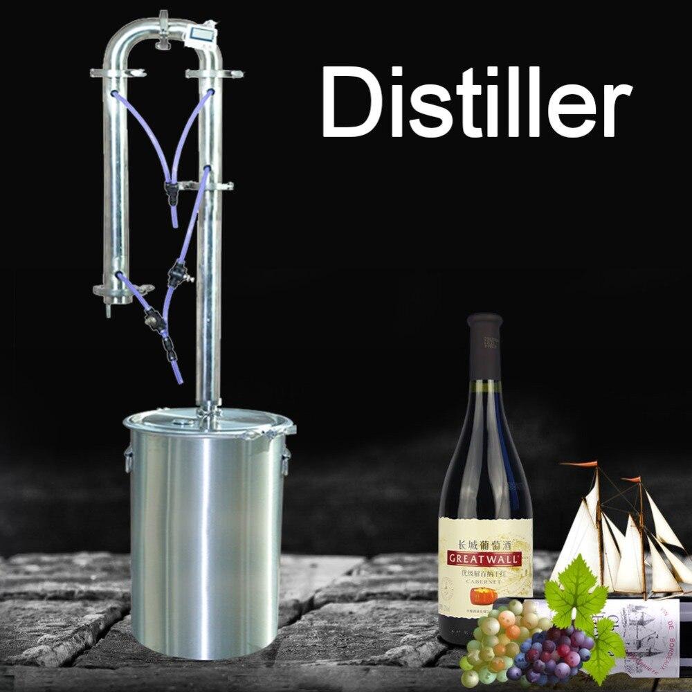 Nuevo Producto destilador caliente torre de destilación moonshining familia herramientas de elaboración de cerveza brandy whisky vino tinto equipo de elaboración de cerveza-in Destiladores from Hogar y Mascotas    1