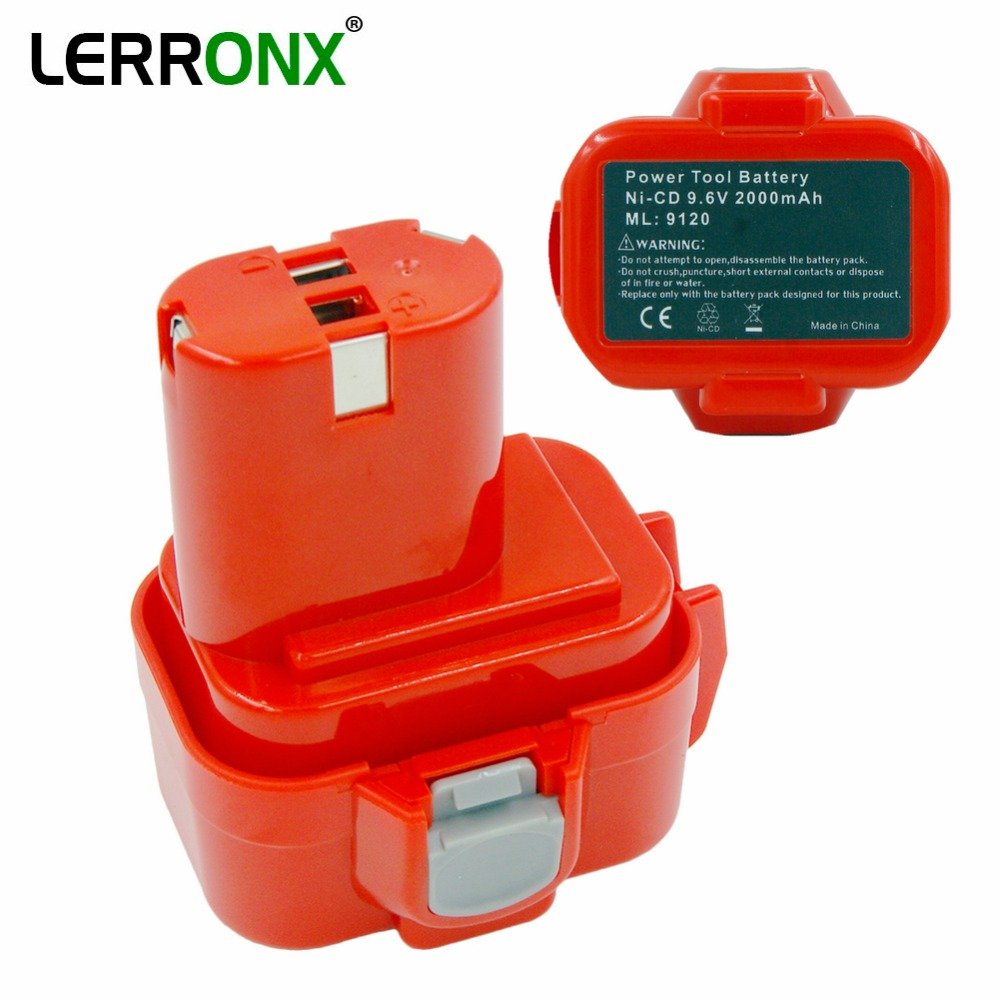 9.6V 2000mAh Ni-CD Power Tools Rechargeable Battery For Makita Cordless Drills 9120 9100 9100A 9133 PA09 Replacement Bateria