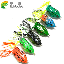 Hot Sale 6pcs/Lot Fishing Lures Soft Artificial Bait 12.5g 5.5cm Frog Lures Lifelike Lures HJ079 Free Shipping