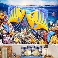Desktop Wallpaper Hd Family Wall Decor Underwater World Kiss Fish Modern Wall Decor Ideas Cartoon Cute