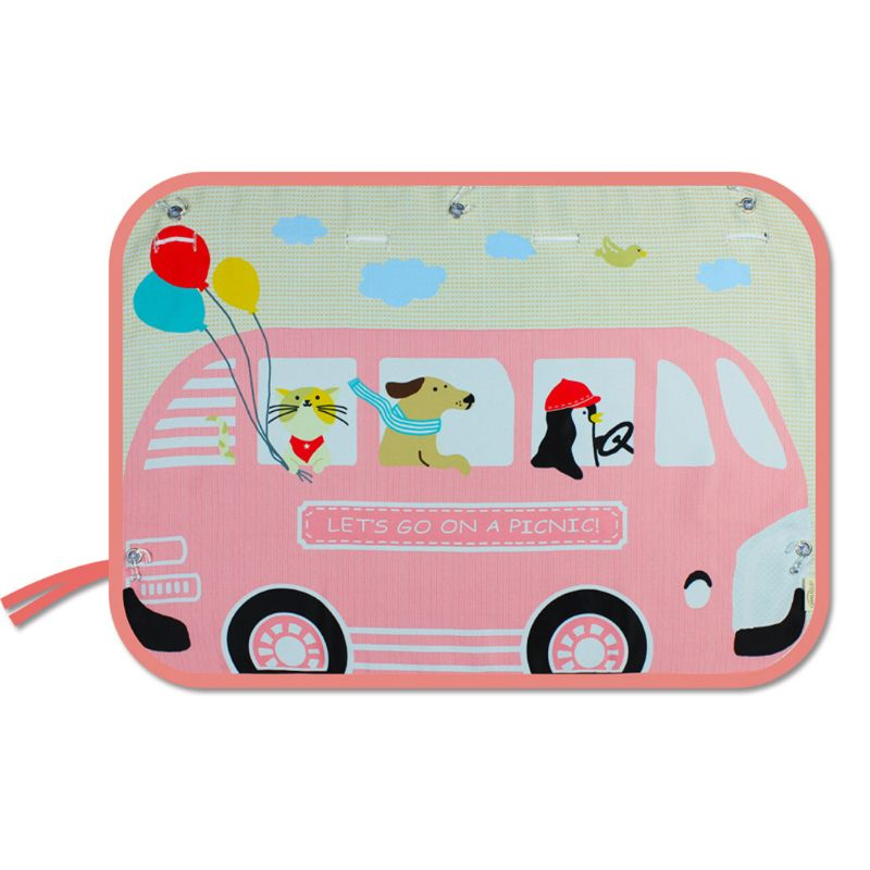 Children Stroller Accessories Side Window Sunshade Cartoon Curtain Sun Visor UV Protection Curtain For Boys Kids  Rear Side Cove