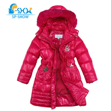 Winter Jacket For Girls  6-12 Age Luxury Brand Girls Winter Coat Long Thickened Snowsuit Children Jackets Big Kid Down Coat 0213