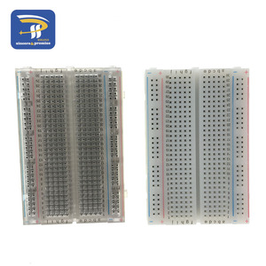 400 Tie Point Interlocking Solderless mini Breadboard Transparent breadboard 83X55 mm Crystal test Breadboard(China)