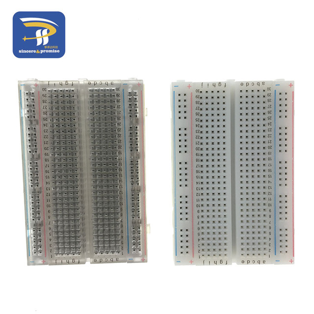 400 Tie Point Interlocking Solderless mini Breadboard Transparent breadboard 83X55 mm Crystal test Breadboard