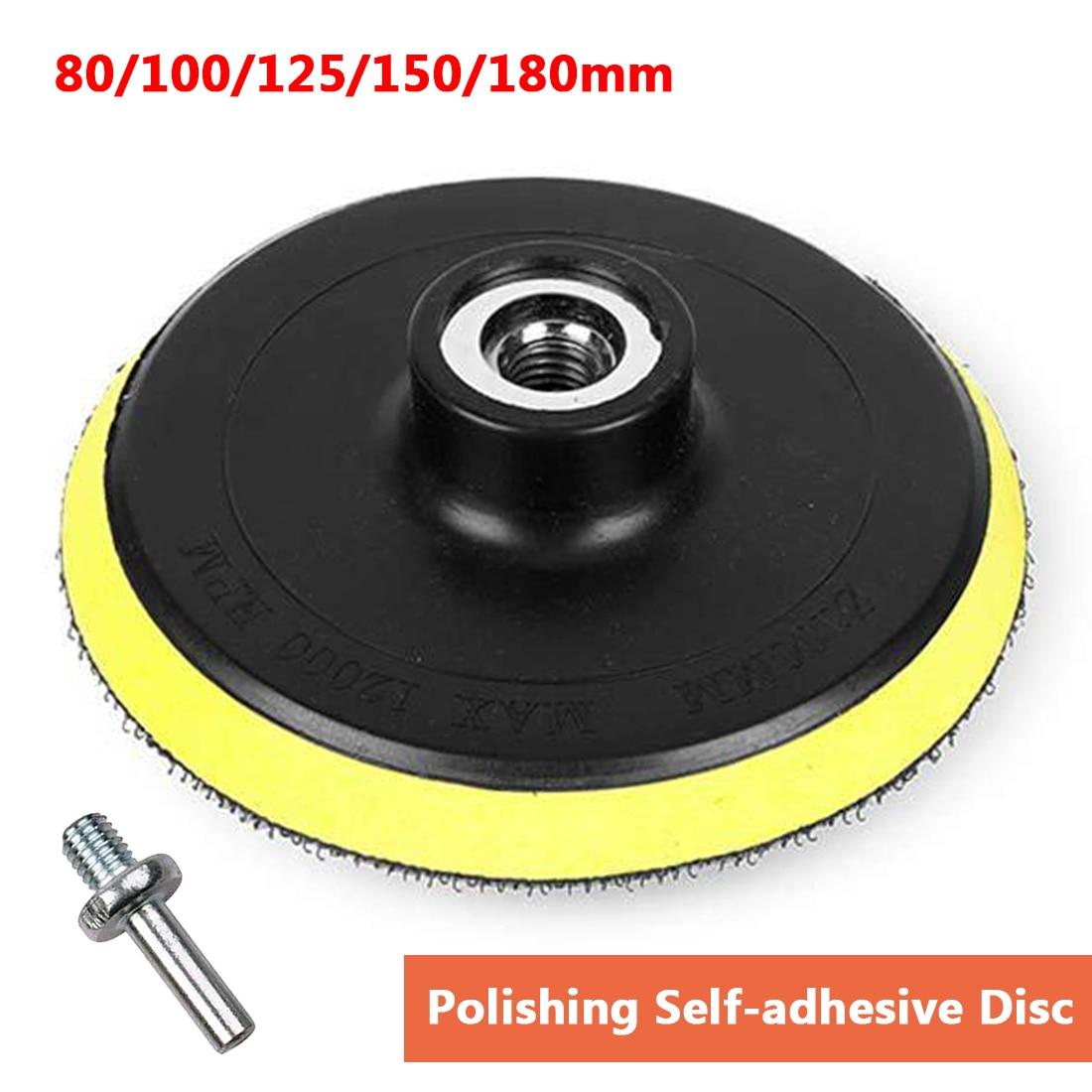 Dremel 80-180mm Polishing Self-adhesive Disc Polishing Sandpaper Sheet Adhesive Disc Chuck Angle Grinder Sticky Plate For Car