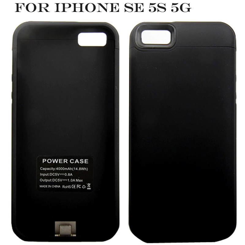 4000 mAh Cassa di Batteria Per iPhone SE Ultra Sottile di Backup Caricabatterie Cover Per iPhone 5 5 S SE Banca di Potere Caso Capa Fundas