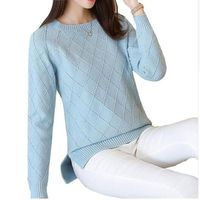 2018 New Thick Warm Autumn Winter Women Sweater Fashion Casual Knitted Ladies Tops Long Sleeve Female