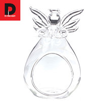 Dehomy Angel Wishing Glass Candle Holder Crystal Hanging Tealight Candlestick Lantern Candle Stand Wedding Home Hotel