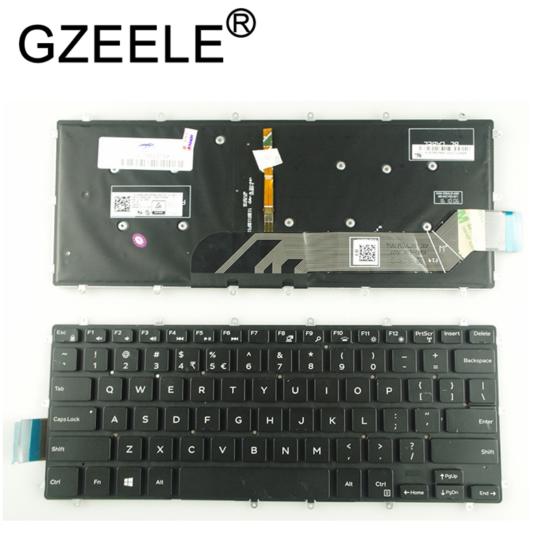 GZEELE New English Laptop Backlit Keyboard For Dell Vostro 14 5468 V5468 5471 Keyboard Backlight
