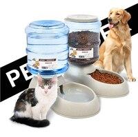 Otomatik Pet Besleyici İçme Çeşme Kediler Köpekler Için Çevre Plastik Köpek Maması Kase Evcil Su Pınarı
