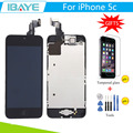 Black For iphone 5c LCD Display for iphone5c Touch Screen Digitizer Frame + Home Button + Front Camera +Tools +Glass Gift