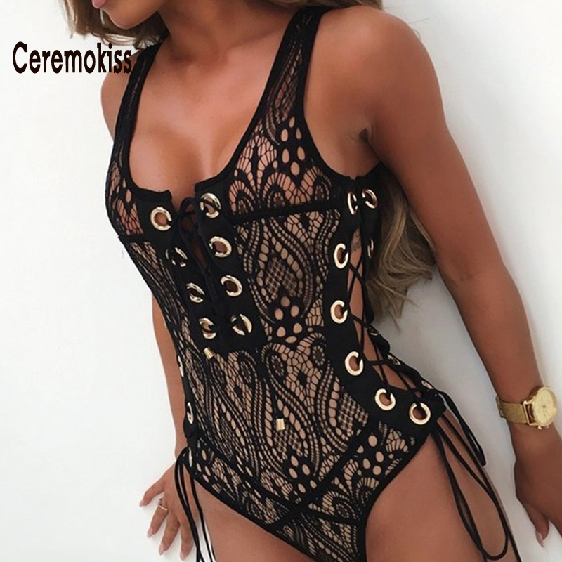 d06af650fb7fd Ceremokiss Sexy Bikini Swimwear Women U Neck Hollow Out Patchwork Bathing  Suit 2017 Summer Female One Piece Set Swimsuit