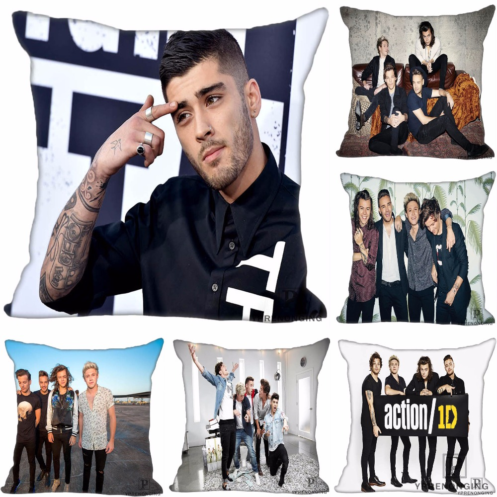 Custom Pillowcase One Direction Press Image Square Zippered Pillow Cover35X35,40x40,45x45cm(One Side)180522-17-48