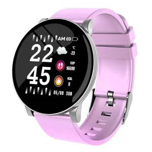 Image 3 - Reloj inteligente W8 con pantalla de latido del corazón, pronóstico del tiempo, reloj inteligente de Fitness, recordatorio, pulsera inteligente bluetooth a prueba de agua pk Q8 Q9