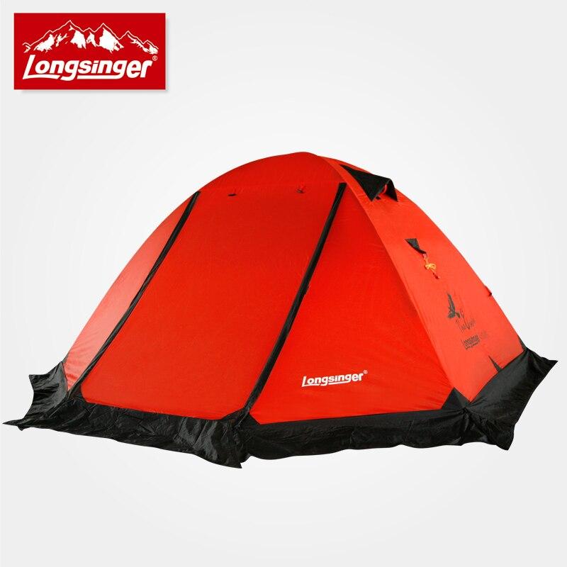 De silicium ultra-léger à double couche tige d'aluminium camping en plein air tente tente d'hiver