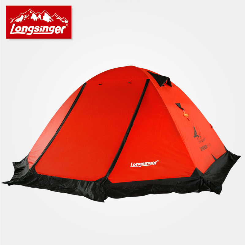 Silicon ultra-light double layer aluminum rod outdoor camping tent winter tent