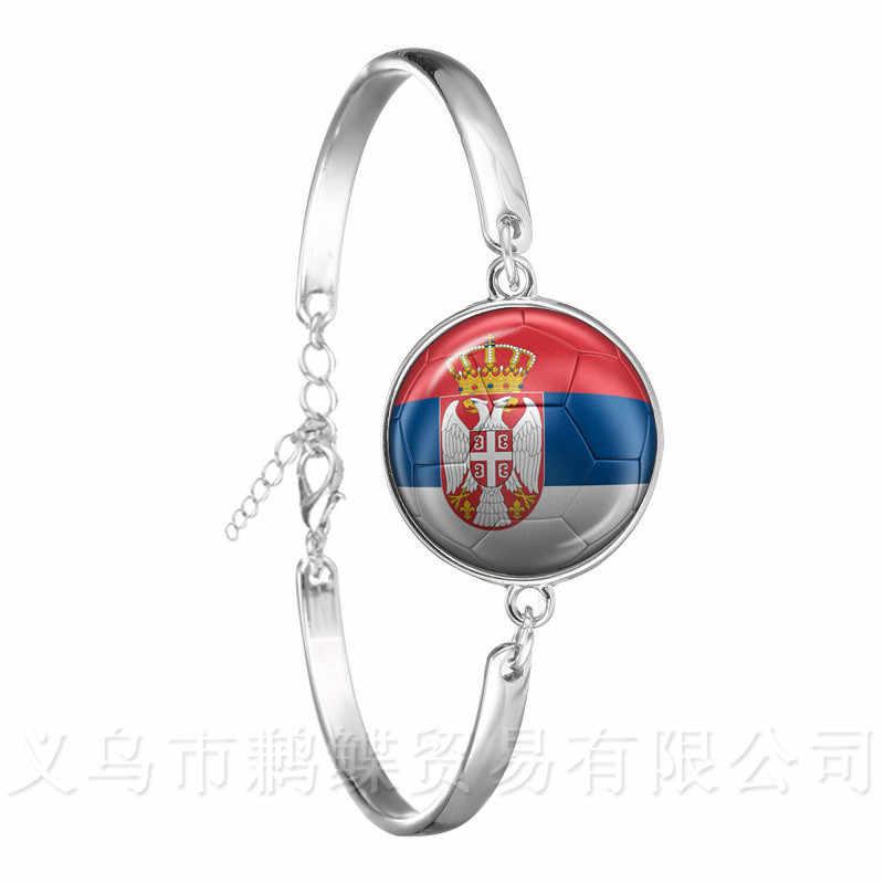 Brazalete de fútbol clásico 2018 Copa del Mundo bandera nacional suiza, Suecia, Japón, Portugal, Nigeria, recuerdos de fútbol