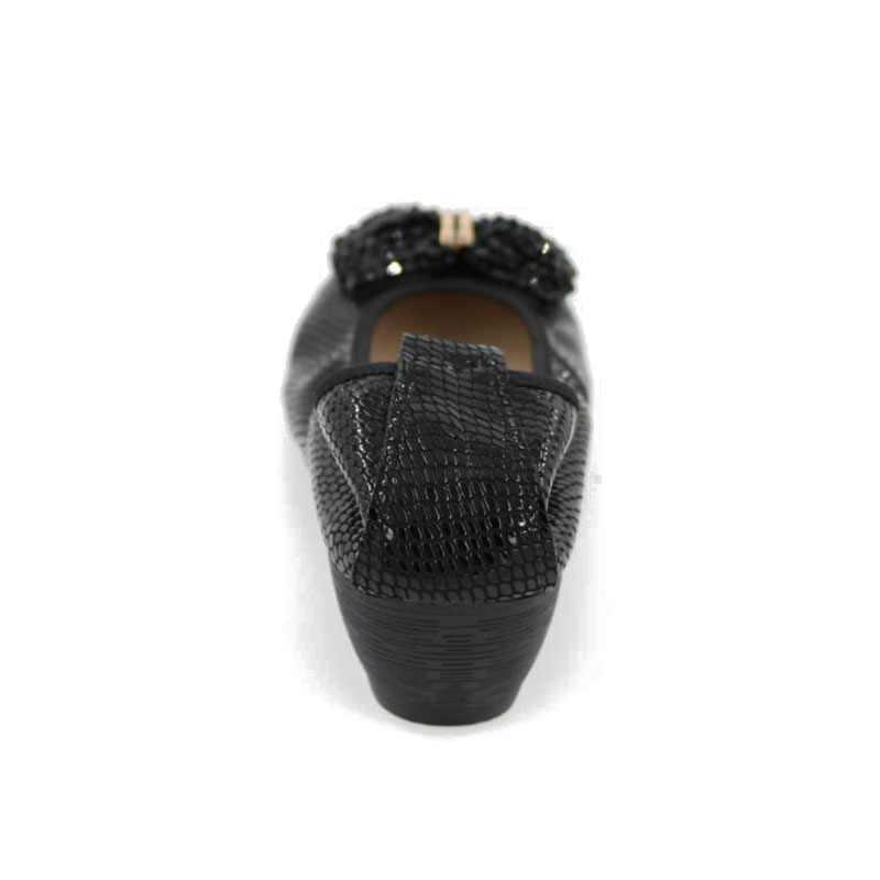 AUCVEE Marka Moda balerin ayakkabıları Kadın Deri Bale Daireler Üzerinde Kayma Düz Mokasen El Yapımı Kadınlar Boncuk Taklidi Ayakkabı LJJ-48