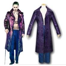 Джаред Лето Джокер костюм отряд самоубийц Хэллоуин косплей костюм пальто на заказ