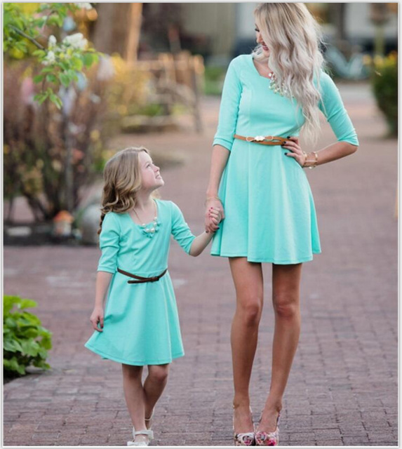 849129707ec2f US $9.17 49% OFF|2019 PPXX Girl Women Dress Wedding mother daughter Dresses  Family Matching Clothes Outfit Family Look Big Size Large-in Matching ...